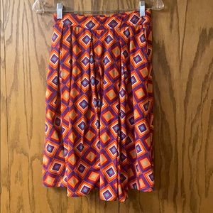 LulaRoe Pleated Midi Skirt Size Small